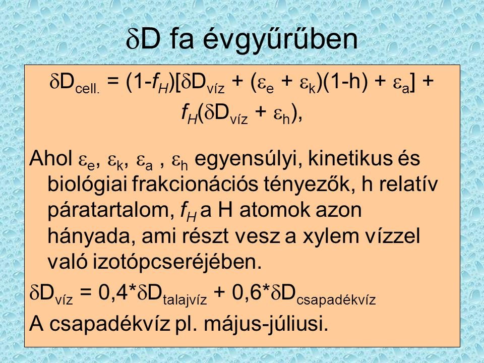 dDcell. = (1-fH)[dDvíz + (e + k)(1-h) + a] +
